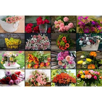Puzzle  Grafika-Kids-01939 Collage - Blumen