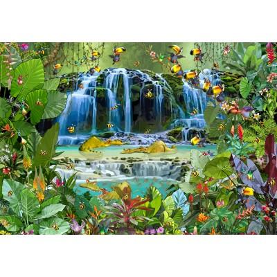 Puzzle Grafika-Kids-01944 François Ruyer - Wasserfall