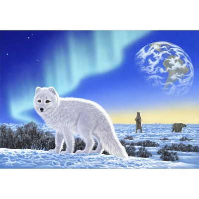 Puzzle  Grafika-Kids-01948 Schim Schimmel - Artic Fox