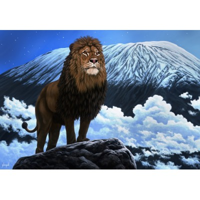 Puzzle  Grafika-Kids-01958 Schim Schimmel - King of Kilimanjaro
