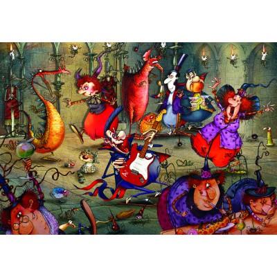 Puzzle  Grafika-Kids-01972 François Ruyer - Das Hexenfest