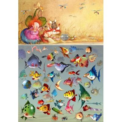 Puzzle  Grafika-Kids-01974 François Ruyer - Hexe