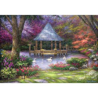 Puzzle  Grafika-Kids-02035 Chuck Pinson - Swan Pond