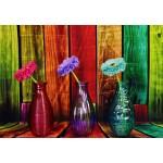 Puzzle  Grafika-Kids-02057 Geblühte und bunte Vasen