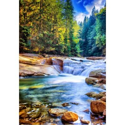 Puzzle  Grafika-Kids-02062 Schöner Wasserfall im Wald