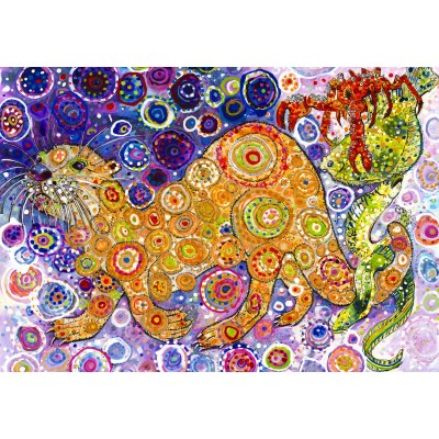 Puzzle  Grafika-Kids-02072 Sally Rich - Otters Catch