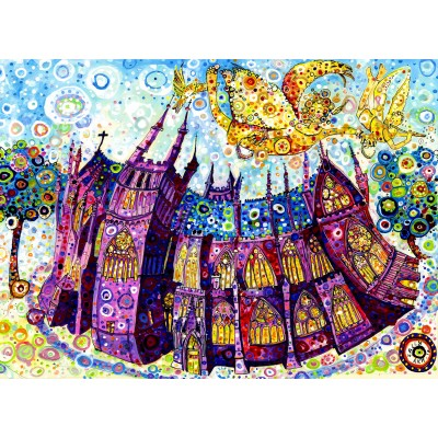 Puzzle  Grafika-Kids-02079 Sally Rich - Kathedrale
