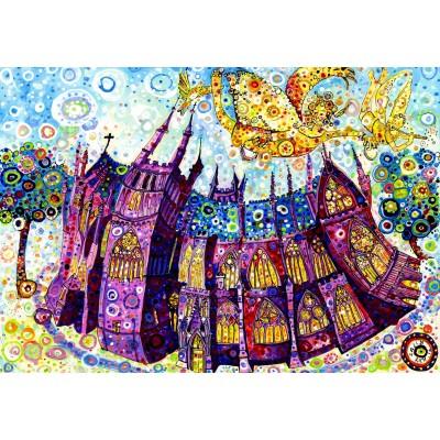 Puzzle  Grafika-Kids-02080 Sally Rich - Kathedrale
