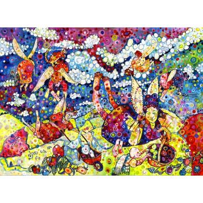 Puzzle Grafika-Kids-02081 Sally Rich - Gardening Angels