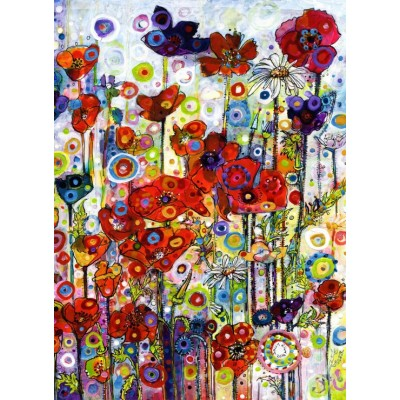 Puzzle  Grafika-Kids-02087 Sally Rich - Poppies