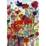 Puzzle  Grafika-Kids-02088 Sally Rich - Poppies