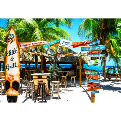 Puzzle  Grafika-Kids-02095 Willemstad Beach, Curaçao
