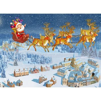 Puzzle  Grafika-Kids-02101 François Ruyer - Weihnachtsmann