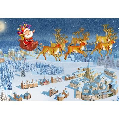 Puzzle  Grafika-Kids-02102 François Ruyer - Weihnachtsmann