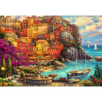 Puzzle  Grafika-Kids-02105 Chuck Pinson - A Beautiful Day at Cinque Terre