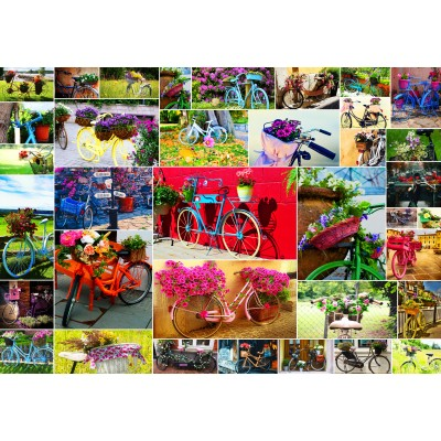 Puzzle  Grafika-Kids-02107 Collage - Fahrräder