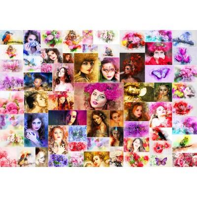 Puzzle  Grafika-Kids-02108 Collage - Frauen