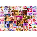 Puzzle  Grafika-Kids-02108 Collage - Frauen