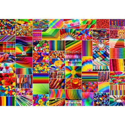 Puzzle  Grafika-Kids-02111 Collage - Farben