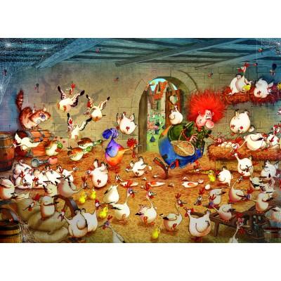 Puzzle  Grafika-Kids-02118 Crazy Chicken Coop