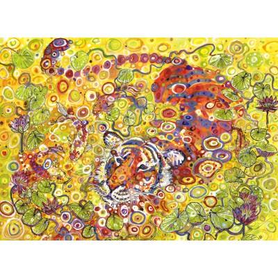 Puzzle  Grafika-Kids-02121 Swimming Tiger