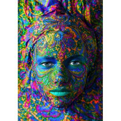 Puzzle  Grafika-00002 Face Art:  Portrait einer Frau