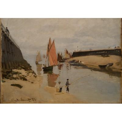Puzzle  Grafika-00037 Claude Monet: Le Port de Trouville, 1870