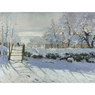 Puzzle  Grafika-00038 Claude Monet: Die Elster, 1868-1869
