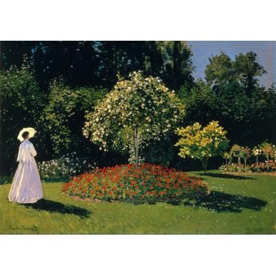 Puzzle  Grafika-00055 Claude Monet: Dame en Blanc au Jardin, 1867