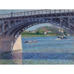 Puzzle  Grafika-00078 Gustave Caillebotte: Le Pont d'Argenteuil, 1883