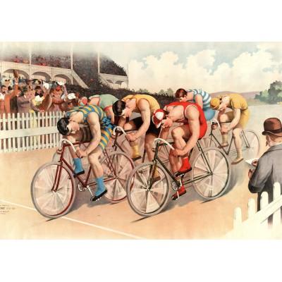 Puzzle  Grafika-00089 Illustration - Radrennen, 1895