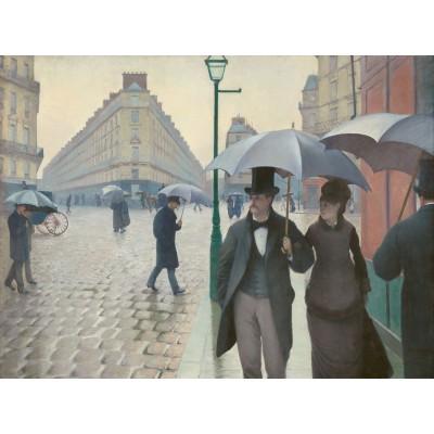 Puzzle  Grafika-00095 Gustave Caillebotte: Rue de Paris, Jour de Pluie, 1877