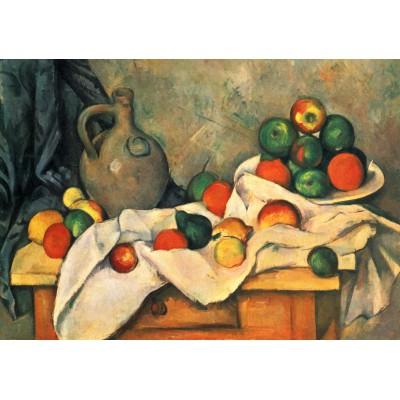 Puzzle Grafika-00100 Paul Cézanne: Stillleben mit Vorhang, Krug und Obstschale, 1893–94