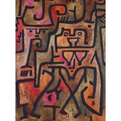 Puzzle  Grafika-00111 Paul Klee: Wald-Hexen, 1938