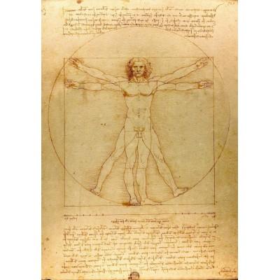 Puzzle Grafika-00122 Leonardo da Vinci: Der vitruvianische Mensch