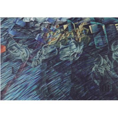 Puzzle  Grafika-00127 Umberto Boccioni: Stati d'animo, Quelli che vanno II, 1911
