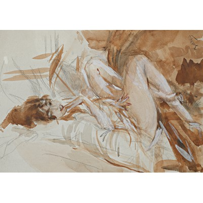Puzzle  Grafika-00130 Giovanni Boldini: Reclining Lady