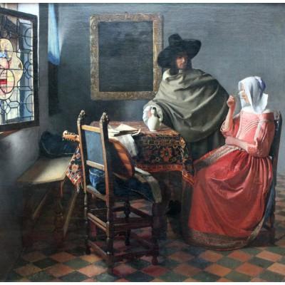 Puzzle Grafika-00148 Johannes Vermeer - The Glass of Wine, 1658-1660