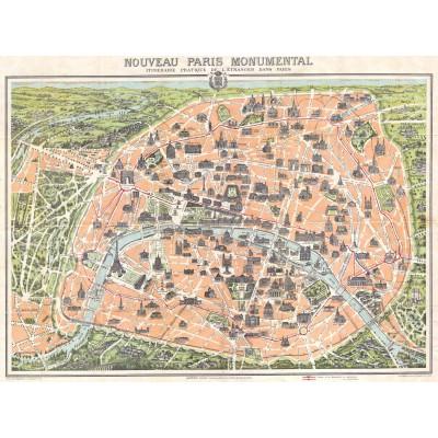 Puzzle Grafika-00164 Stadtplan von Paris, 1900