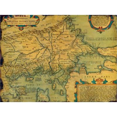 Puzzle  Grafika-00166 Carte de la Thrace Antique indiquant la Province d'Europe, IVe Siècle