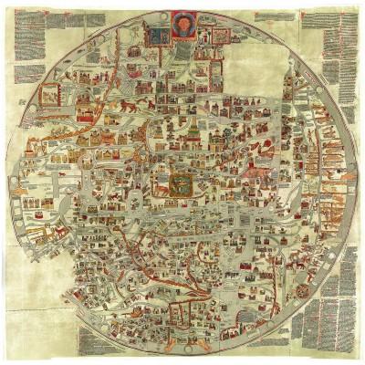 Puzzle Grafika-00167 Ebstorfer Weltkarte, 12. Jahrhundert