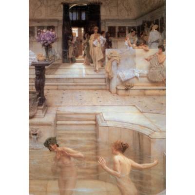 Puzzle  Grafika-00171 Sir Lawrence Alma-Tadema: Ein bevorzugter Brauch, 1909