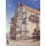 Puzzle  Grafika-00186 Alfred Sisley: L'Église de Moret, 1893
