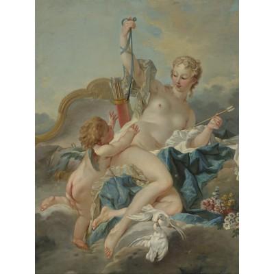 Puzzle  Grafika-00195 François Boucher: Vénus désarmant Cupidon