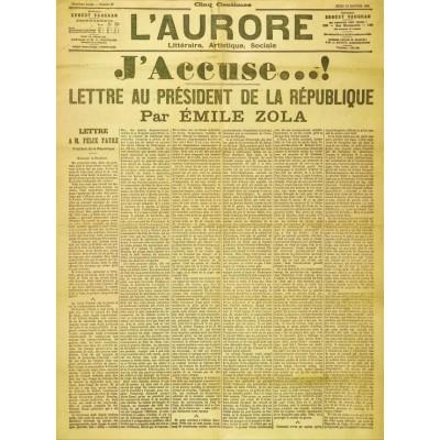 Puzzle Grafika-00196 Une de l'Aurore du 13 Janvier 1898 - Emile Zola: J'accuse...!