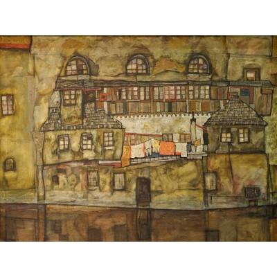 Puzzle  Grafika-00215 Egon Schiele: Façade sur la Rivière, 1915