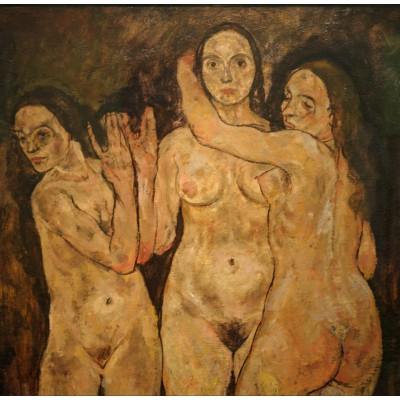 Puzzle  Grafika-00219 Egon Schiele: Drei Stehende Frauen, 1918