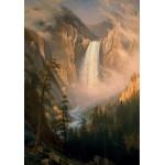 Puzzle  Grafika-00230 Albert Bierstadt: Les Chutes de la Rivière Yellowstone, 1881