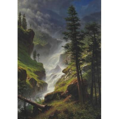 Puzzle Grafika-00231 Albert Bierstadt: Chute d'Eau dans les Rocheuses, 1898
