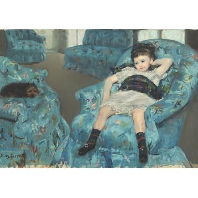 Puzzle  Grafika-00232 Mary Cassatt: Little Girl in a Blue Armchair, 1878